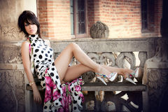 Mode tirée du femme élégant sexy photos stock