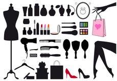 Mode und Schönheit, vektorsatz Lizenzfreie Stockfotos