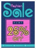 Mode-Verkaufs-Flieger-, Plakat- oder Fahnendesign Stockfotos