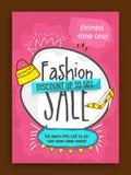 Mode-Verkaufs-Plakat-, Fahnen- oder Fliegerdesign Lizenzfreie Stockbilder