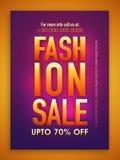 Mode-Verkaufs-Plakat-, Fahnen- oder Fliegerdesign Stockfoto