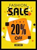 Mode-Verkaufs-Plakat-, Fahnen- oder Fliegerdesign Lizenzfreies Stockfoto