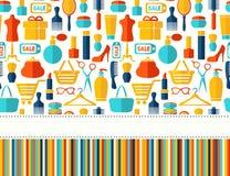 Mode-, Verkaufs- und Einkaufshintergrund Lizenzfreie Stockfotografie