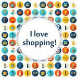 Mode-, Verkaufs- und Einkaufshintergrund Lizenzfreie Stockfotos