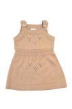 Mode weibliches child& x27; s u. x28; baby& x29; Kleid lokalisiert auf weißem Hintergrund Lizenzfreie Stockfotografie