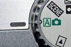 Mode wheel. On digital camera royalty free stock images