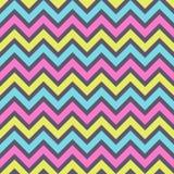 Mode-Zickzackmuster des nahtlosen Modezickzacks patternSeamless Retro-, Pastellfarben Zickzackfarblinien stock abbildung