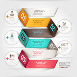 Modean business diagram origami options banner. Stock Images