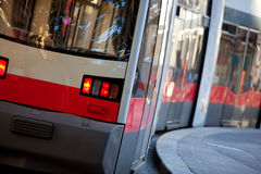 Modean tram in Vienna Austria Royalty Free Stock Photos