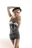 Modeartfoto von netten Blondinen Lizenzfreie Stockfotos
