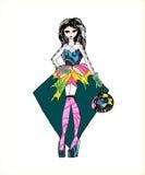 Modebild av kläder och tillbehör Royaltyfri Fotografi