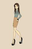 Modebild von Kleidung und von Zubehör Stockbild