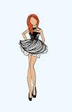 Modebild von Kleidung und von Zubehör Stockfotografie