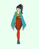 Modebild von Kleidung und von Zubehör Lizenzfreie Stockfotos