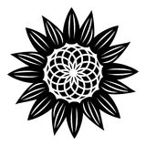 Modeblommasymbol, enkel stil stock illustrationer