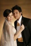 modebröllop Royaltyfria Bilder