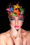 Modebrunette-Modell-Porträt Lizenzfreies Stockfoto