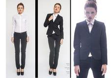 Modecollage mit schönen jungen Frauen Schöne reizvolle Mädchen Stockbild