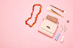 Modedam Accessories Set Arkivfoton