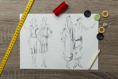 Modedesign Arkivfoton