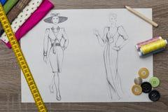 Modedesign Arkivbild