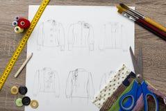 Modedesign Arkivfoto