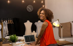 Modedesigner Stockfoto
