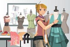 Modedesigner bei der Arbeit Lizenzfreie Stockbilder