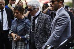 Modedesigner Karl Lagerfeld Lizenzfreies Stockbild