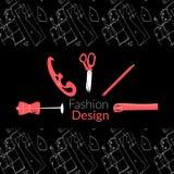 Modedesignlogofahnen-Vektorillustration Stockbilder