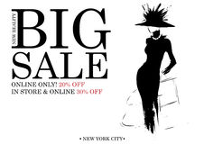 Modeeinkaufsdesign Lizenzfreie Stockfotografie