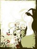 modeflicka royaltyfri illustrationer