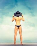 modeflicka på ferie Arkivfoton