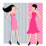Modeflickakonturer vektor illustrationer
