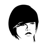 modeflickasilhouette stock illustrationer