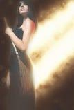Modeflickor som firar allhelgonaaftonen 2016 Haloween dräkter Royaltyfria Bilder