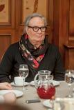 Modeformgivare Rocco Barocco på invigningsdagen av det första mono-märke lagret i Ryssland Royaltyfri Foto