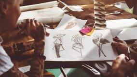 Modeformgivare Stylish Showroom Concept Royaltyfria Foton