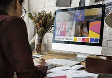 Modeformgivare Stylish Showroom Concept Royaltyfri Bild