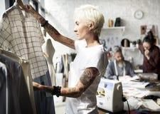 Modeformgivare Stylish Showroom Concept Arkivfoton