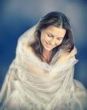 Modefoto av den härliga damen Arkivfoton