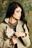 Modefoto av den nätta flickan Royaltyfri Foto