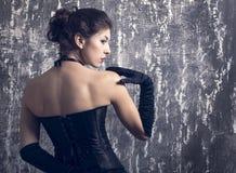 Modefoto av den unga damen arkivfoton