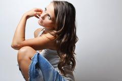 Modefoto der Schönheit Lizenzfreies Stockfoto