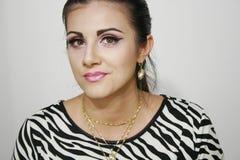 Modefoto des schönen smileymädchens Stockfotos