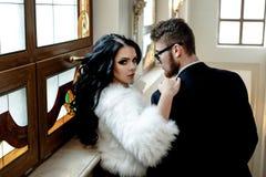 Modefoto Romance von sexy Liebhaberpaaren stockbilder