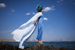 Modefoto vid havet Royaltyfria Foton