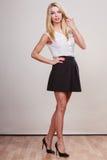Modefrau Aufstellung in der in voller Länge stockfotos