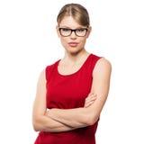 Modefrau in den Brillen Lizenzfreie Stockfotos