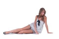 Modefrau kurz gesagt und Tupfenbluse Lizenzfreie Stockbilder